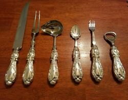 Beautiful Sterling Silver Carving And Service Set Made By Sheffield England