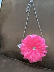 FLOWER HOT PINK CROSSBODY GIRLS PURSE SUPER CUTE WOW $9.99