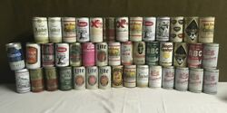 Lot Of 43 Vintage Beer Cans Abc Luckys Royal Amber Horlacher India Kingsbury