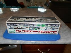 Vintage 2006 Hess Toy Truck And Helicopter W/inserts N/mint Condition