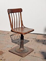 Vintage Farmhouse Cast Iron Pedestal Chair French Country Made By The Boston