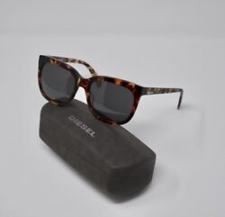 Diesel Sunglasses Lens Gray Frame Brown w Blue 0084 52A 55 Authentic NWT $35.00