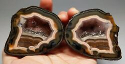 A Pair Roughunpolished Agate/achat Nodule Specimen Xuanhua Hebei China Xh-056