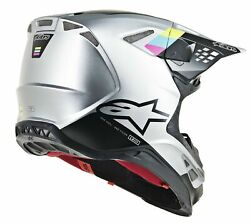 Alpinestars Mens MX Offroad Supertech M8 Contact Helmet Silver/Black 2XL