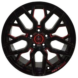 4 GWG NIGMA 18 inch Black Red Mill Rims fits CHEVY IMPALA 2000 - 2013