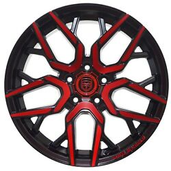 4 GWG NIGMA 18 inch Crimson Red Rims fits CHEVY IMPALA 2000 - 2013