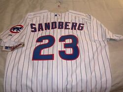 Ryne Sanberg Size Xxl 52 Chicago Cubs Mlb Authentic Home Jersey