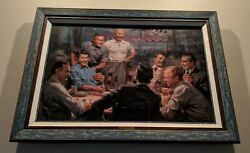 Andy Thomas Grand Ol' Gang And True Blues Canvas Giclee Ltd Ed. 30/208 S/n Rolled