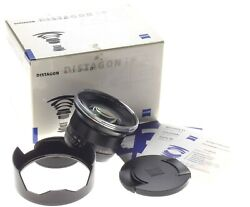 Carl Zeiss 3.518mm DISTAGON T* ZE f=18mm wide angle lens new hood caps mint box