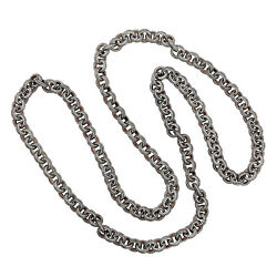 91.15 Natural Diamond Rope Necklace 925 Sterling Silver Jewelry