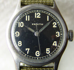 33 Mm Menand039s Wwii Era Zenith Collection Military Wristwatch Good Condition 1945