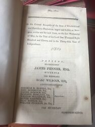 1811-1817 The General Assembly Of The State Of Rhode Island Antique Law Book