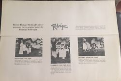 Rare 3 George Rodrigue Collection Medical Doctor Nurse Signed Numbered Art