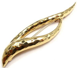 Rare Authentic Henry Dunay 18k Yellow Gold Abstract Pin Brooch
