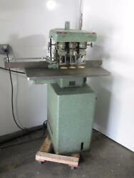 Challenge Eh3 Hydraulic Drill Press 3-spindle Paper Punch Dayton Motor 5k458b
