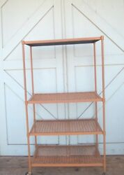 Industrial Cart Multi Shelf Rolling Wheels French Country Kitchen Delivery Info