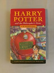 HARRY POTTER AND THE PHILOSOPHER'S STONE TRUE 1ST EDITION1ST PRINTING UK HB