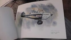 United Airlines Collector Nixon Galloway Print Litho Curtiss Falcon Express Mail