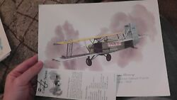 United Airlines Collector Nixon Galloway Print Litho Curtiss Carrier Pigeon 1926