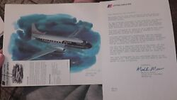 United Airlines Collector Nixon Galloway Print Litho Convair 340 1952-1968 Plane