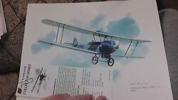 United Airlines Collector Nixon Galloway Print Litho Swallow Mailplane C-6 1926