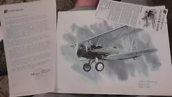 United Airlines Collector Nixon Galloway Print Litho Boeing 95 1929-'30 Airplane