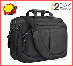 17.1 inch Laptop Bag Briefcase Water-Repellent Expandable for School Travel $35.99