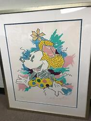 Walt Disney Minnie Mouse Limited Edition Silk Screen Art Painting Collectibles