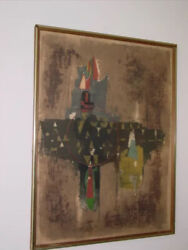 Johnny Friedlander Lithograph Abstract 29 X 22 Sale Price 2500 Was 5500