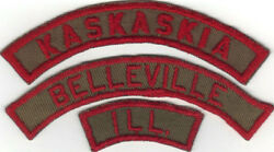 Boy Scout Kaskaskia Council Trs Tan And Red 1/2 Strip Unlisted Very Rare