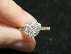 Last Call Clearance 3215 Rare 18kt Gold Gorgeous Pink And White Diamond Ring