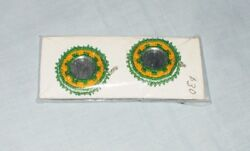 Set Of Two Earrings Native American Beaded Barrette - Lot Of Two