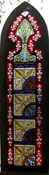 Gothic Top Flash Glass Stained Glass Window 1880and039s Sixand039 Hi Architectural Salvage