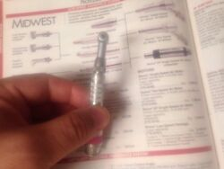 Midwest Push Button Contra Angle Handpiece Fits High Speed Burs