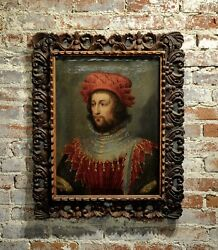 17th century Italian Portrait of a Gentleman in medieval costume-Oil painting