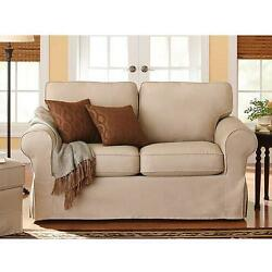 Loveseat Couch Sofa Seat Chaise Lounge Modern Living Room Dorm Furniture Beige