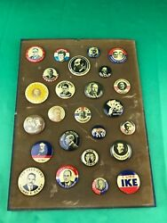 Vintage Lot Of 25 Political Pinback Buttons Campaign Election Reproductions