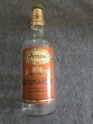 Rock And Rye Arrow Collectible Empty Whisky Bottle