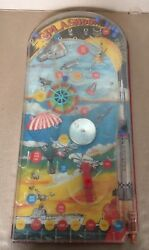 Vintage Wolverine Toy Co. Splashdown Pinball Game Space Age Rocket Helicopter