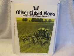 Original Oliver/mm/white Farm Equipment Chisel Plows Brochure 4 Pages