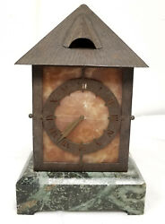 Antique Arts And Crafts Mantle Clock Bailey Banks And Biddle Lampl Light Aesthetic