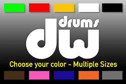 Dw Drums Logo Decal For Drum Set - Select Size