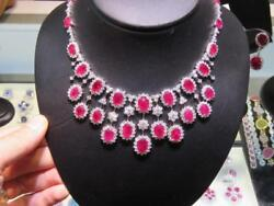 HOLIDAY CLEARANCE!$170800 WINSTON STYLE 18KT GORGEOUS RUBY DIAMOND NECKLACE
