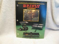 Brinly Attachments For Riding Mowers/lawn Tractors With Drawbar Hitch Brochure