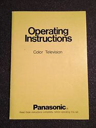 Vintage 70s Panasonic Ct-316 Television Operating Instructions Manual W/ Inserts