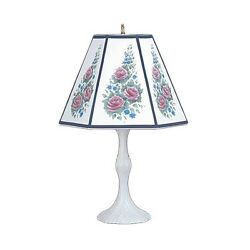 Table Lamp Navy Metal Parchment Shade 25 H X 14 1/2 W   Renovator's Supply
