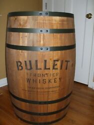 Bulleit Frontier Whiskey Full Size Display Barrel Bourbon Man Cave Whisky