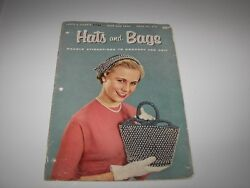 Vintage 1955 Coats And Clarks Hats And Bags Pattern Book - First Edition