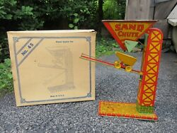 Vintage J. Chein And Co. No. 45 Automatic Sand Loader Chute Tin Toy W/ Box