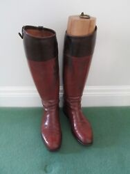 Schnieder Bespoke Leather Menand039s Riding Boots With Trees And Bag
